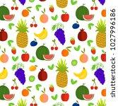 vector illustration of fruits... | Shutterstock .eps vector #1027996186