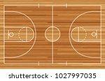 basketball court floor with... | Shutterstock .eps vector #1027997035