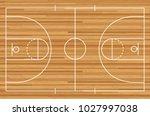 basketball court floor with... | Shutterstock .eps vector #1027997038