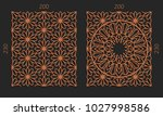 laser cutting set. woodcut... | Shutterstock .eps vector #1027998586