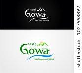 logo visit gowa  | Shutterstock .eps vector #1027998892