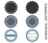 vector stamp without text. set... | Shutterstock .eps vector #1027999876