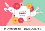 easter banner background... | Shutterstock .eps vector #1028000758