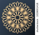 laser cutting mandala. golden... | Shutterstock .eps vector #1028001418