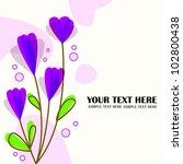 purple flower background | Shutterstock . vector #102800438