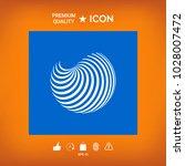 earth logo design with elegant... | Shutterstock .eps vector #1028007472