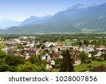 vaduz  liechtenstein top view.... | Shutterstock . vector #1028007856