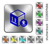 package delivery engraved icons ... | Shutterstock .eps vector #1028009686
