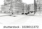 downtown new york  3d... | Shutterstock . vector #1028011372