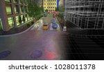 downtown new york  3d... | Shutterstock . vector #1028011378