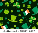 patrick's day  seamless pattern ... | Shutterstock .eps vector #1028017492