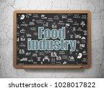 industry concept  chalk blue...   Shutterstock . vector #1028017822