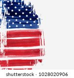 usa abstract flag brushed... | Shutterstock .eps vector #1028020906