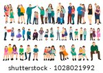 vector  set of people flat... | Shutterstock .eps vector #1028021992