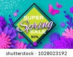 origami violet super spring... | Shutterstock .eps vector #1028023192