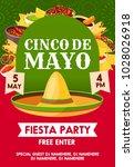 cinco de mayo mexican holiday... | Shutterstock .eps vector #1028026918