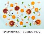 healthy food fruits pattern... | Shutterstock . vector #1028034472