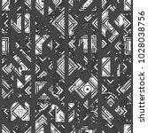 monochrome grunge seamless...   Shutterstock .eps vector #1028038756