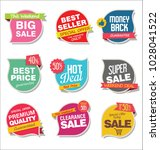 modern sale stickers and tags... | Shutterstock .eps vector #1028041522