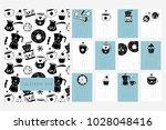 calendar 2019. stock vector.... | Shutterstock .eps vector #1028048416
