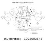 future technologies in cosmos... | Shutterstock .eps vector #1028053846
