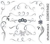 vintage calligraphic vector...   Shutterstock .eps vector #1028055682