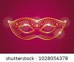 red and gold velvet female... | Shutterstock .eps vector #1028056378