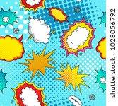 pop art comic background   Shutterstock .eps vector #1028056792