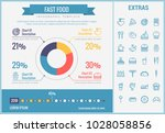 fast food infographic template  ... | Shutterstock .eps vector #1028058856