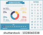 human resource infographic... | Shutterstock .eps vector #1028060338