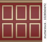 decoration classic red wall  3d ... | Shutterstock . vector #1028060692