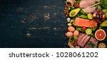 healthy food background.... | Shutterstock . vector #1028061202
