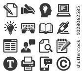 copywriting icons set on white... | Shutterstock .eps vector #1028062585