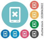 mobile cancel flat white icons... | Shutterstock .eps vector #1028062822