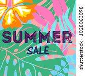 summer sales banner template... | Shutterstock .eps vector #1028063098