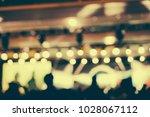 defocused entertainment concert ... | Shutterstock . vector #1028067112