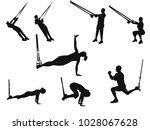silhouettes of men and women... | Shutterstock .eps vector #1028067628