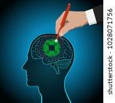restoration of brain functions  ... | Shutterstock .eps vector #1028071756