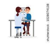 doctor examining patient s... | Shutterstock .eps vector #1028074138