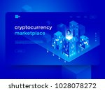 cryptocurrency and blockchain... | Shutterstock .eps vector #1028078272