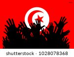 hands up silhouettes on a...   Shutterstock .eps vector #1028078368
