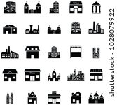 building icon set | Shutterstock .eps vector #1028079922