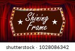 theater curtain  frame light... | Shutterstock .eps vector #1028086342