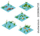 Lake Landscape Isometric Tile...