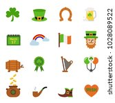 saint patrick day holiday... | Shutterstock .eps vector #1028089522