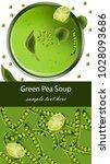 green pea soup vector realistic....   Shutterstock .eps vector #1028093686