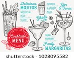 cocktail bar menu. vector... | Shutterstock .eps vector #1028095582