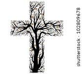 Black Christian Cross  Tree...