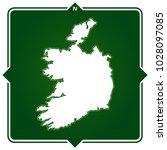 simple outline map of ireland... | Shutterstock .eps vector #1028097085