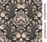 vector damask seamless pattern... | Shutterstock .eps vector #1028099296